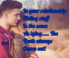 hiding stuff in your relationship