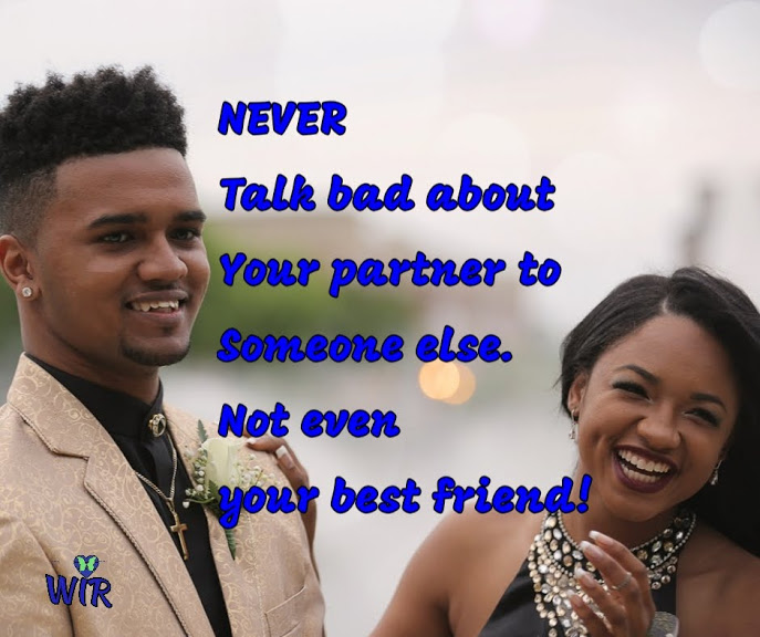 never talk bad